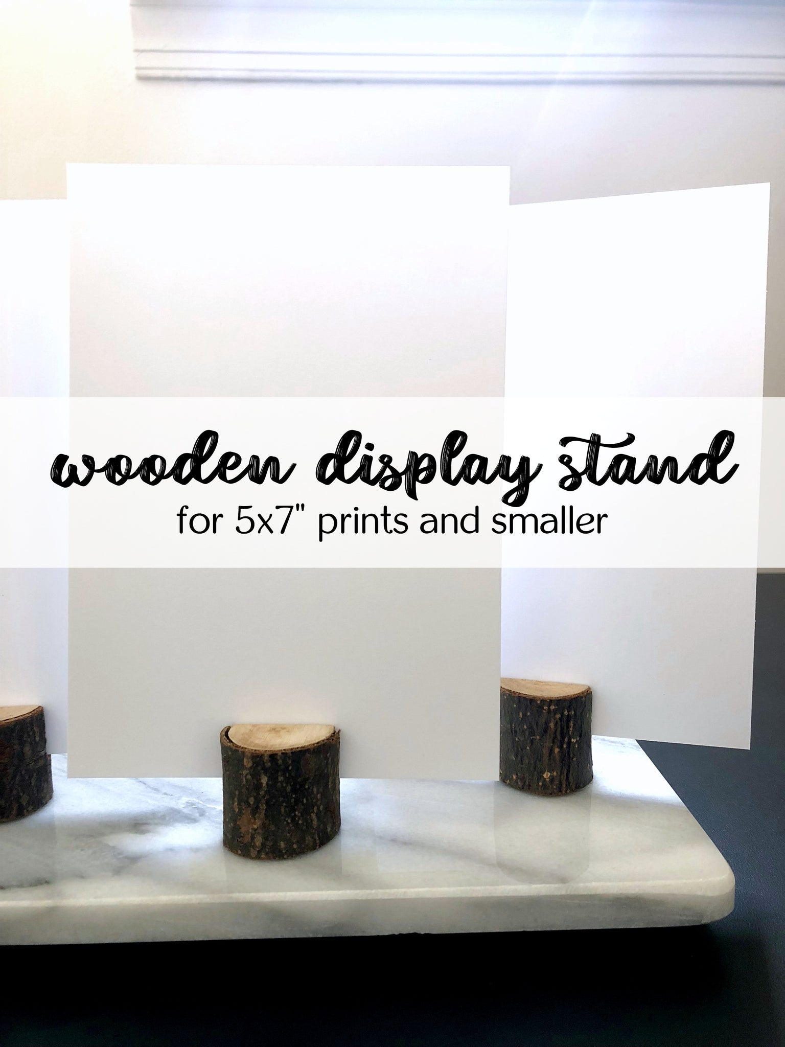 "Wooden Display Stand for 5x7"" Prints and Smaller"