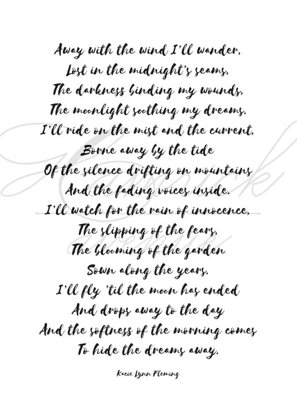 "SLEEP Poem Print | 5x7"" or 8x10"""