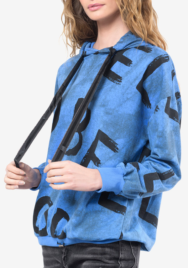 BE SWEATSHIRT AZUL - NARANJA