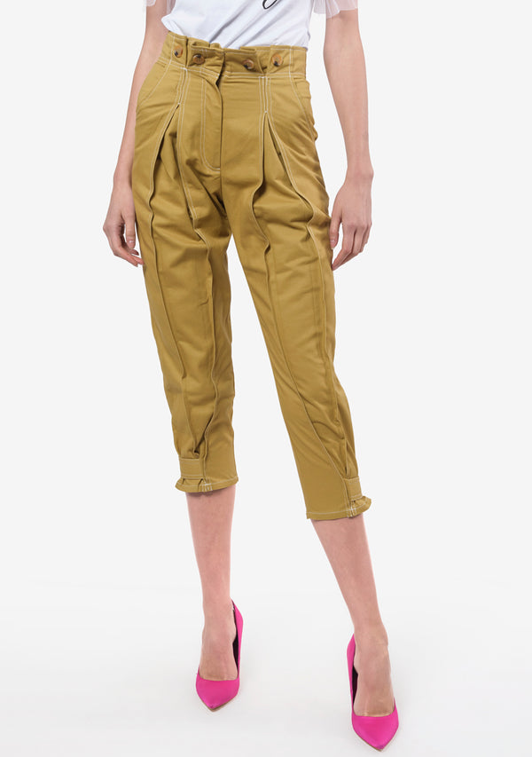 PLIEGUES PANTS  KHAKI - BLANCO