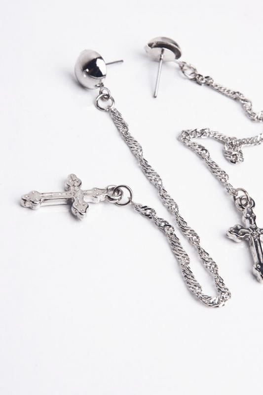 Urban Styles Aretes Talla única / Único Chain and Cross