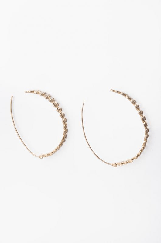 Urban Styles Aretes Talla única / Plata Medium plated hoop earrings- DORADO