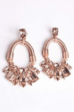 Urban Styles Aretes Talla única / Único Pink Gold earrings