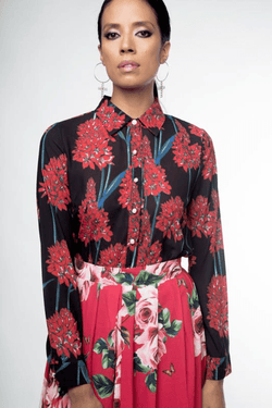 Urban Styles Blusas THE RED FLOWERS BLOUSE