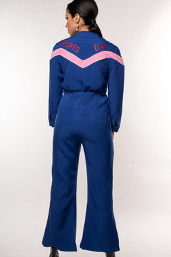 Urban Styles Jumpsuits S / AZUL THE SPORT DAY JUMPSUIT-EN ROSA Y AZUL