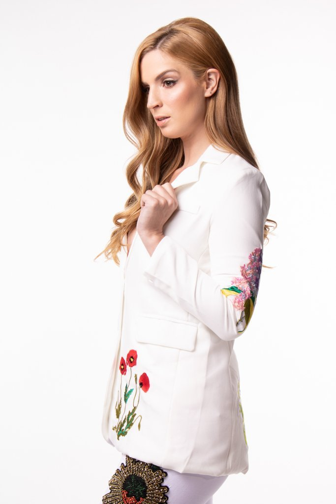 Urban Styles Sacos THE FLOWERS BLAZER-EN NEGRO Y BLANCO