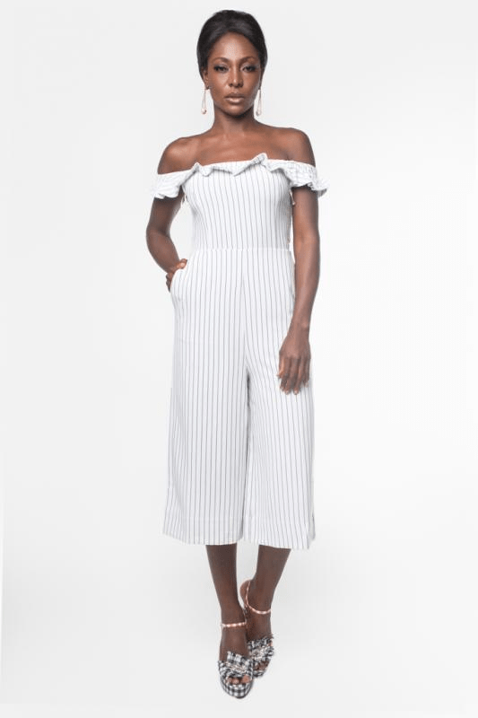 Urban Styles Sets THE WHITE JUMPSUIT SRAPLESS