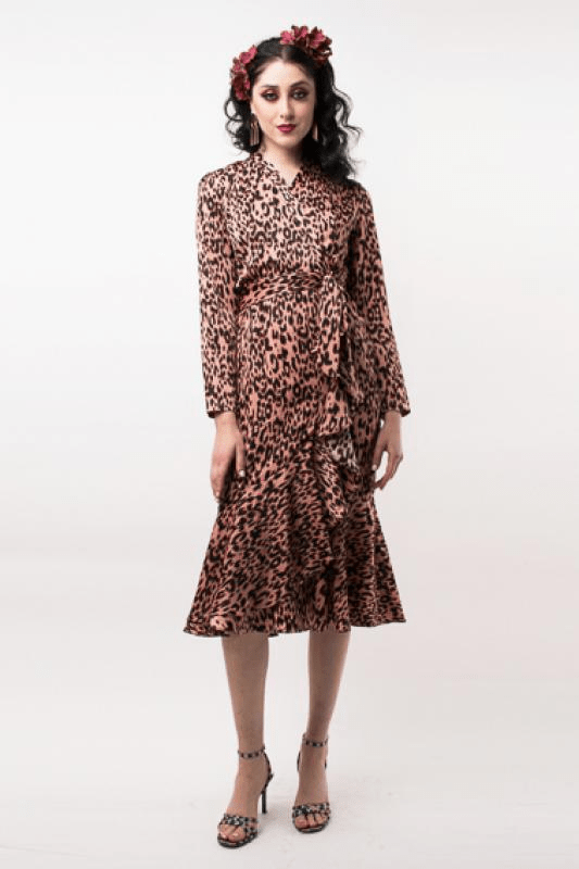 Urban Styles Vestidos ANIMAL PRINT DRESS-ROSA