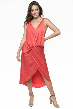 ARYA DRESS  ROJO - NEGRO