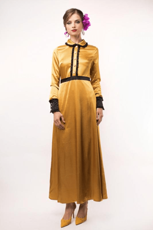 Urban Styles Vestidos GOLDEN LONG DRESS