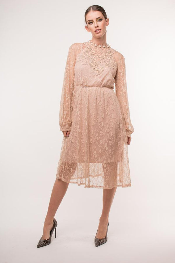 Urban Styles Vestidos LACE AND PEARLS DRESS