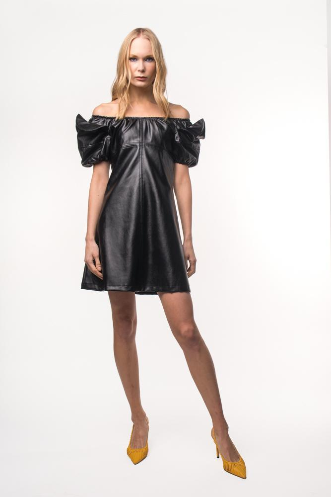 LUCRECIA DRESS CAMELLO - NEGRO