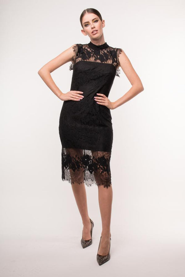 Urban Styles Vestidos THE DENTELLE BLACK DRESS