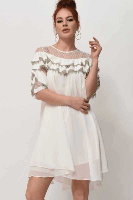 Urban Styles Vestidos THE WHITE VAPOROUS DRESS