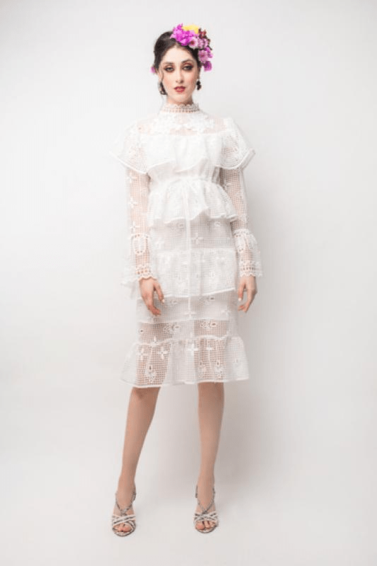 Urban Styles Vestidos WHITE LACE DRESS