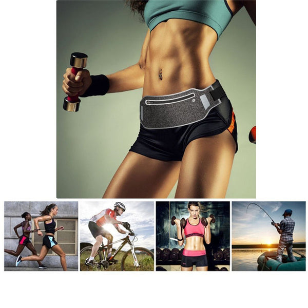 Ultra Thin Waist Pouch - Fitness Carrier and Personal Belonging Bag