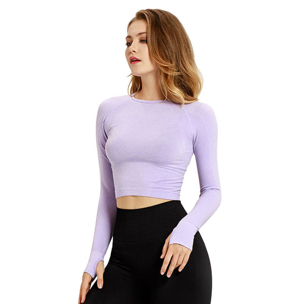 Fearless Seamless Long Sleeve Crop - Lavender