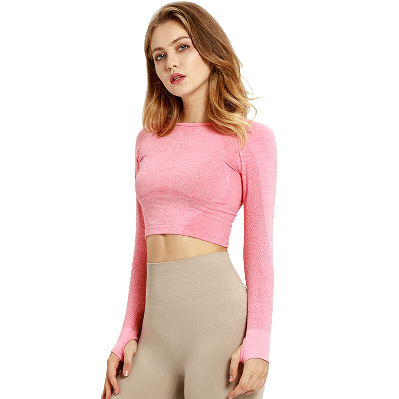 Fearless Seamless Long Sleeve Crop Top