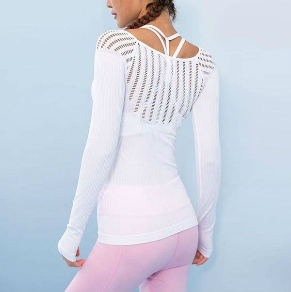 Hollow Out Long Sleeve Top*