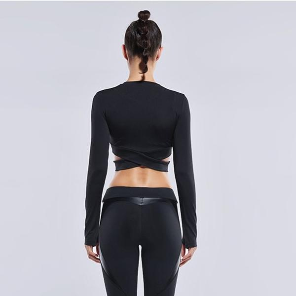 Long Sleeve Wrap Crop*