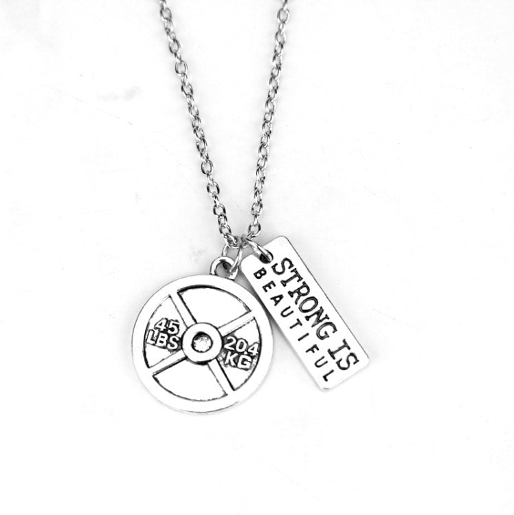 Strong is Beautiful + 45 lb Plate Charm