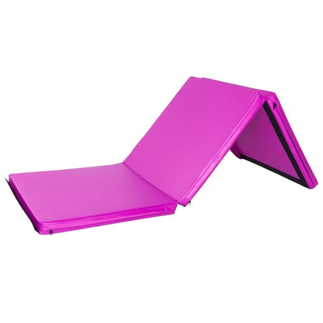 Portable Tri-fold Gymnastics Yoga Mat With Handle '