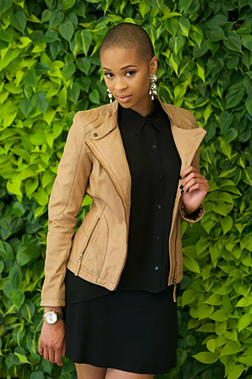Classico - Neutral Tan Casual Lambskin Leather Jacket