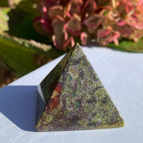 Dragon's Blood Jasper Pyramid
