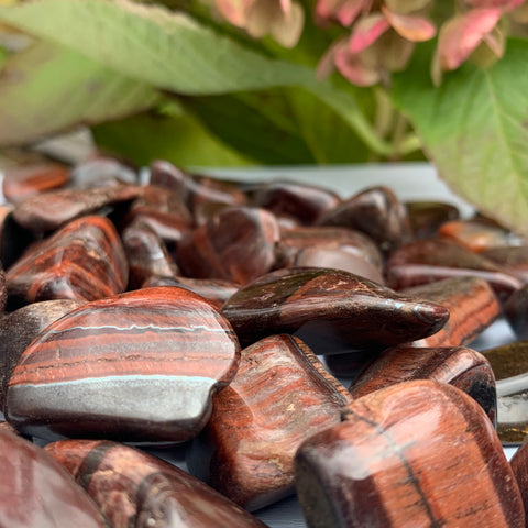 red tiger's eye tumbles for sale