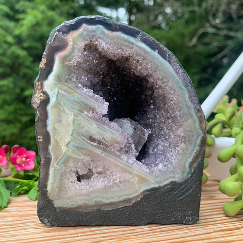 Amethyst Cathedral with Calcite Inclusion