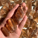 real tangerine quartz crystals