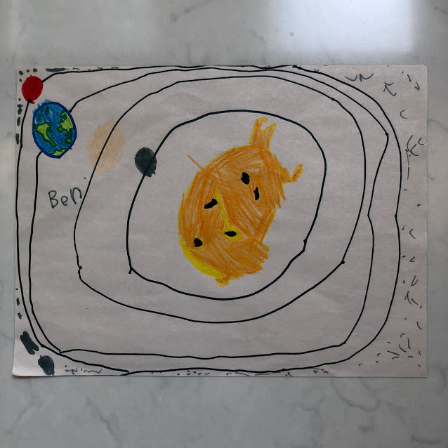 The Sun with the Four Rocky Planets and the asteroid belt