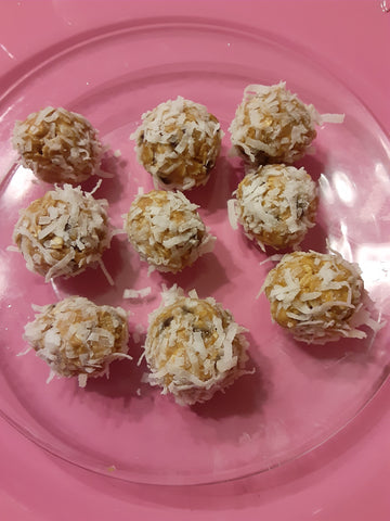 Coconut Peanut Butter Protein Bites