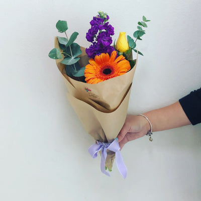 Funky bright posy - caringbahflowersgifts