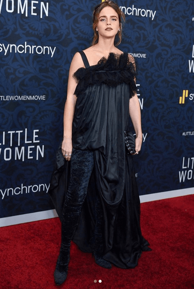 Emma Watson's Gothic Look For the 'Little Women' NYC Premiere Is Setting Winter's Biggest Trend
