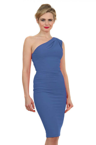 Chantelle Pencil Dress in Dutch Blue