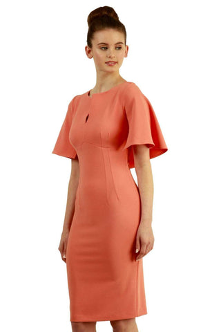 Canterbury Cape Dress honeysuckle pink