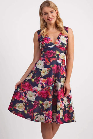 Aldeburgh Print Dress in digital rose