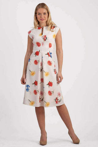 Clarity Print Dress in buttercup print