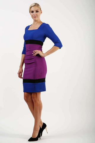 Coco Colour Block 3/4 Sleeve Dress