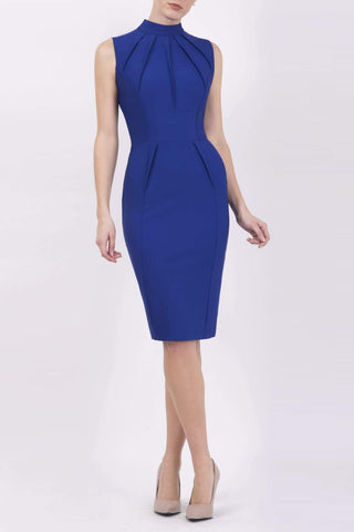 Bradbury Pencil Dress in blue