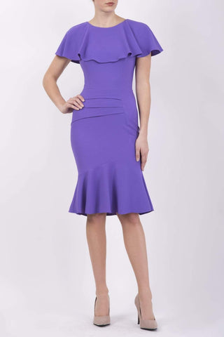 Nova Fishtail Dress in nova violet