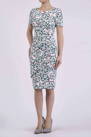 Katia Dress in Geometric Floral Print