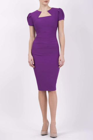 Alexandra Pencil Dress in Dewberry