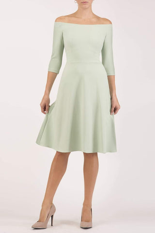 Islay Swing Dress in deco green