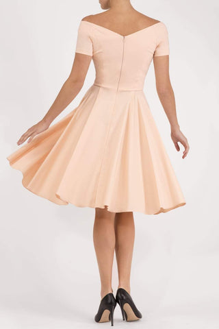 Abberton Swing Dress in nude pink