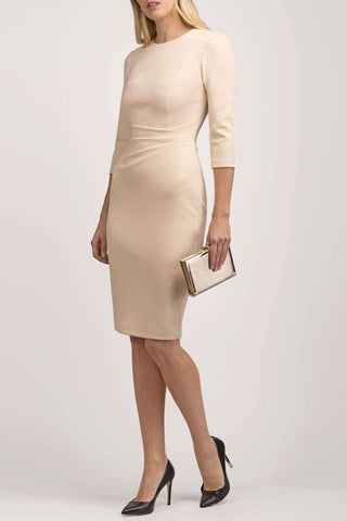 Derbyshire Pencil Dress in beige