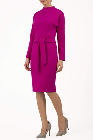 Pegasus Pencil Dress in Fuchsia pink