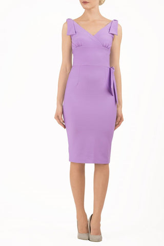Malvern Pencil Dress in violet bloom