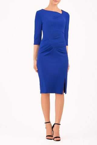 Rococo Marvel Stretch Dress in cobalt blue